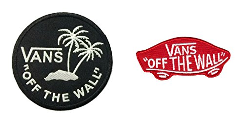 Off The Wall 2 Pack Embroidered Sew/Iron On Patch InspireMe Family Owned