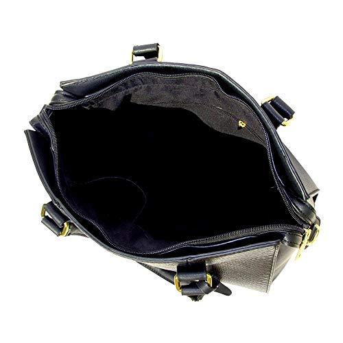 Handle Top Bag Fashion Elegant For Black Ladies Design Pu Tote Womens Handbag Shoulder qxRffa