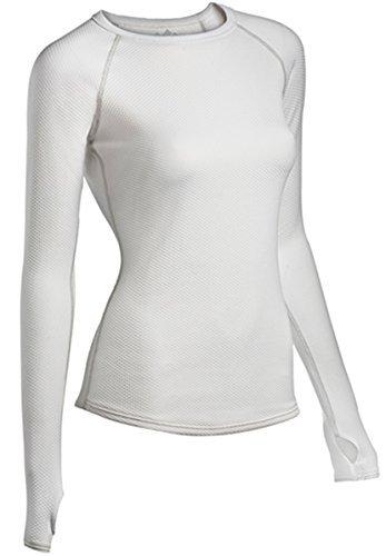 カカドゥ大砲子供時代ColdPruf Women's Honeycomb Base Layer Long Sleeve Crew Neck Top, White, Small by ColdPruf [並行輸入品]