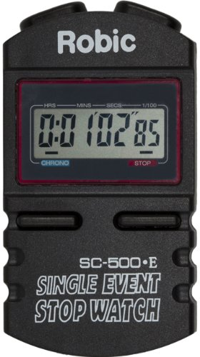 (Robic SC-500E Single Event Stopwatch, Black)