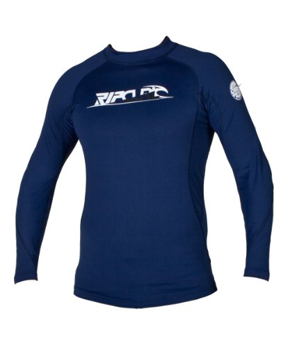 Rip Curl Men's Classic Long Sleeve Corp Rashguard (Navy, Medium)