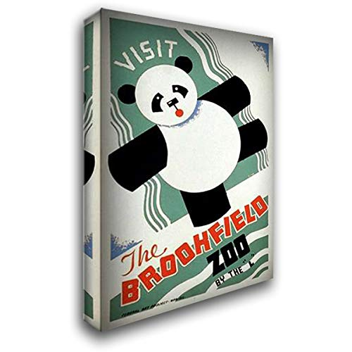 Visit The Brookfield Zoo by The L - Panda 40x60 Extra Large Gallery Wrapped Stretched Canvas Art by Gregg, Arlington (Visit Brookfield Zoo)