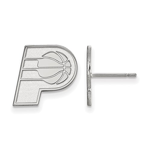 NBA Indiana Pacers Post Earrings in 14K White Gold by LogoArt