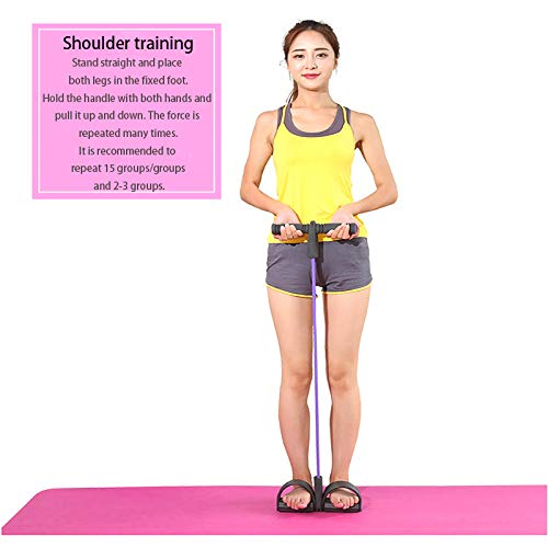 Resistance Bands Fitness Elastic Sit Up Pull Rope Exerciser,Home Gym Sport Yoga Stretching Slimming Training,Bodybuilding Equipment,4 Tubes