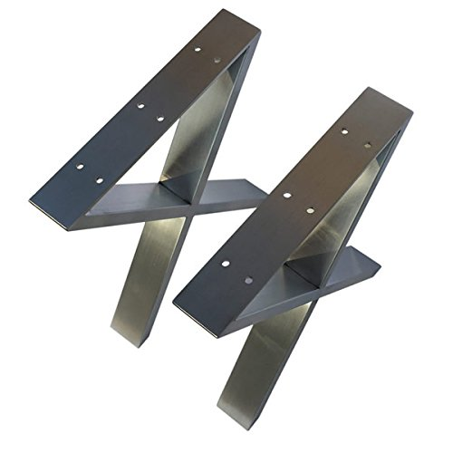 Table Steel Chrome (Coffee Table Legs Metal Legs X-Shape Furniture Legs 16