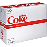 Diet Coke Soda Soft Drink, 12 fl oz, 20 Pack