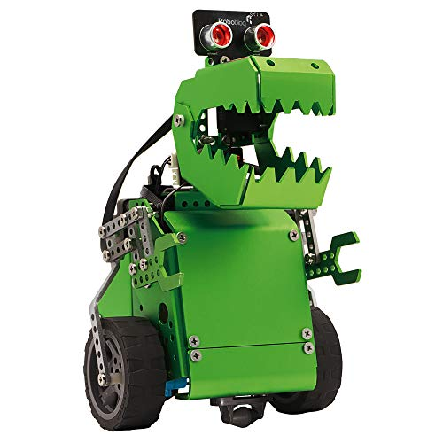 Robobloq Q- Dino 2 in 1 Robot kit for Kids 10+, Educational STEM Toy for Programming and Learning How to Code (Dinosaur & Crocodile, 231 Pieces)