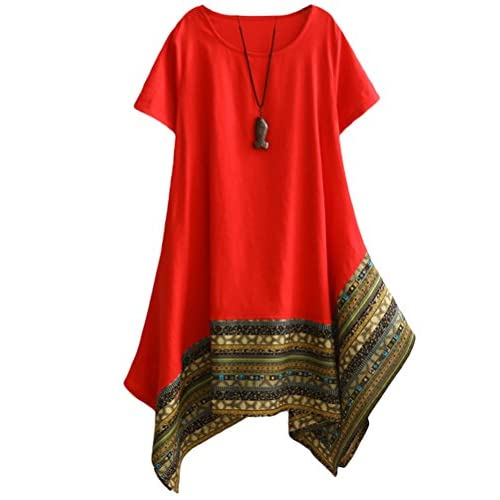 ONTBYB Womens Plus Size Lace Long Sleeve Midi Dress with Drawstring