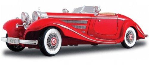 Maisto Modellauto 1:18 Mercedes Benz 500 K rot 1936