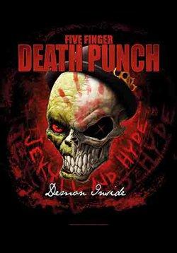 Five Finger Death Punch- Demon Inside Fabric Poster 30 x 40in (Inside Fingers)