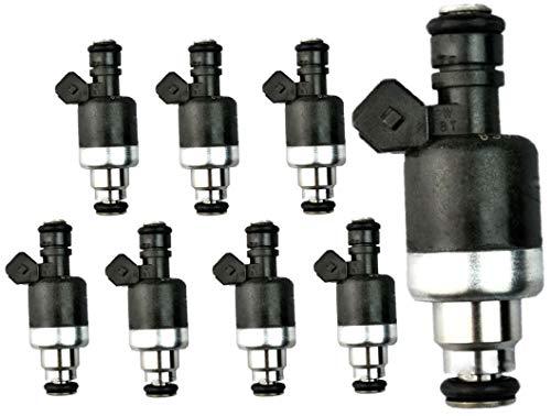 (Set of 8 Re-manufactured OEM Rochester Fuel Injectors for 1993-1994 Cadillac Seville 4.6L V8 Part# 17091520 )
