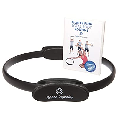 Pilates Ring & Training Video: Resistance Ring for Full-Body Toning, Sculpting & Core Fitness (Men/Women) from Athletic Originality