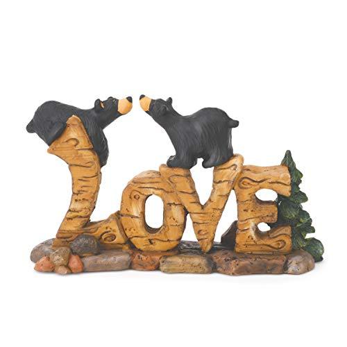 DEMDACO Love Bears Black Bear 3.5 x 6 Hand-cast Resin Figurine Sculpture