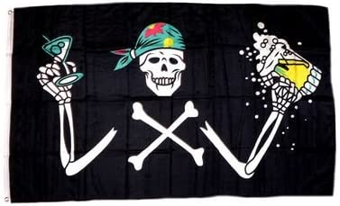 Flaggenfritze/® Gro/ße Stockflagge Schwenkflagge Pirat 60 x 90 cm