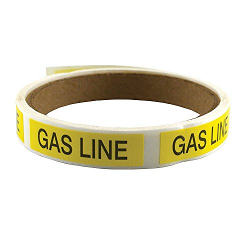 Jones Stephens Corp - Gas Line Stickers-100/Roll by Jones Stephens