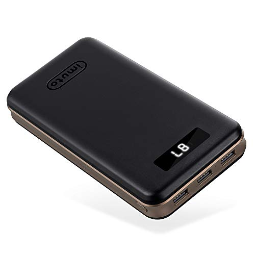 Portable Charger 30000mAh imuto Power Bank X6 USB External Battery Pack Android Cell Phone 3-Port 3.4A Output Fast…