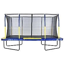 Upper Bounce Easy Assemble Spacious Rectangular Trampoline with Fiber Flex Enclosure Feature