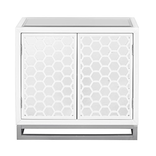 Home Fare Two Door Mirror Honeycomb Chest ()