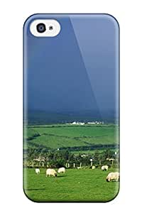 First-class Case Cover For Iphone 4/4s Dual Protection Cover Rainbow Earth Nature Rainbow