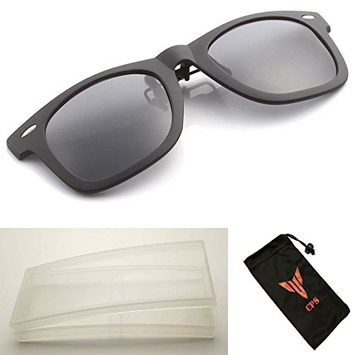 (#ClipOnWAY) 1 Pair Clip On Glasses Men & Women Unisex Myopia Eyeglasses Short Sighted / Nearsighted Glasses + FREE Hard Case Storage + Cleaning - Free Returns Eyeglasses