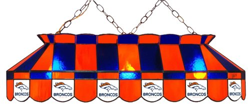 Imperial Officially Licensed NFL Merchandise: Tiffany-Style Stained Glass Billiard/Pool Table Light, Denver Broncos