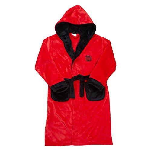 MiniKidz Boys Novelty Hooded Soccer Themed Dressing Robe (Ages 2-13) ()