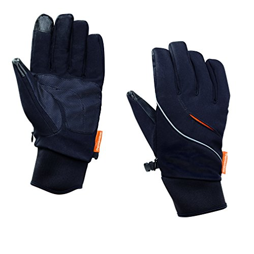 Thermatek Thermagear Wind and Water-resistant Men's Heated Gloves With TRI-LON PLUS Advanced Soft Shell Fleece- Includes 2 Heat Packs, X-Large (Neoprene Soft Shell)