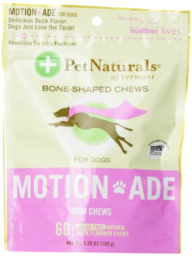 Pet Naturals Motion ADE Bone-Shaped Chews for Dogs, 60 Count, Duck Flavor