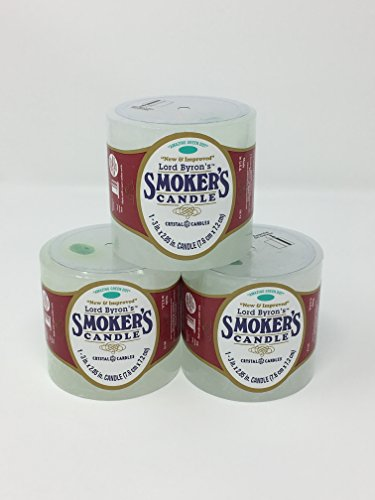 Lord Byron's Smoker's Candle (Pack of 3) by Crystal Candles
