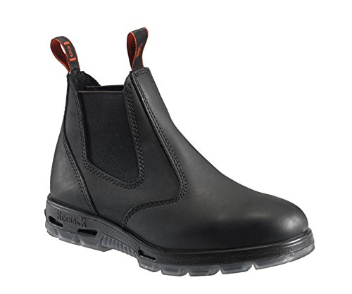 Picture of RedbacK Men's Work Boots UBBK Black Easy Escape Chelsea Bobcat Slip On Non Steel Toe