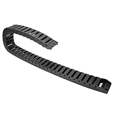 uxcell R28 15mm x 40mm (InnerHInnerW) Black Plastic Wire Carrier Cable Drag Chain 1M Length for CNC: Home Improvement