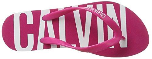 Calvin Klein Ff Sandal, Chanclas para Mujer Rosa (Fuchsia Purple 505)