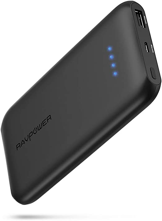 10000mAh Quick Charge QC 3.0 Portable Charger Fast Charging Slim Compact Power Bank High Capacity Battery Pack Compatible with iPhone iPad Samsung Galaxy Cell Phone Android Smartphone and More Black
