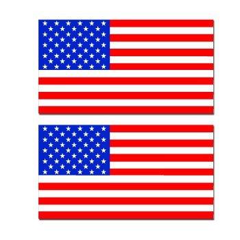 USA FLAGS SET TWO Sticker