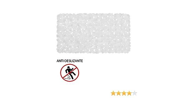 Maurer 4042505 Alfombra Ba/ño Antideslizante Stone 69x36 cm Transparente