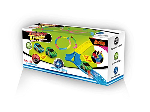 Mindscope Twister Tracks 255 BUMP & GO RACE SET Neon Glow in the Dark Series As Seen on TV Neo Tracks