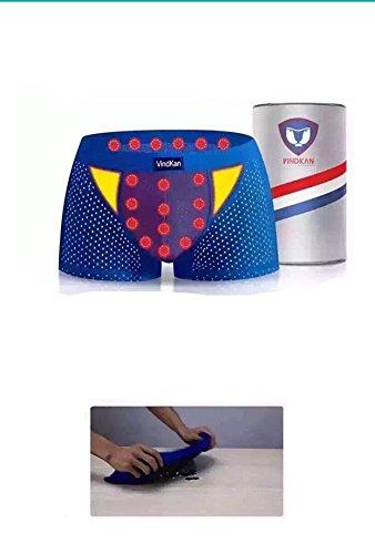 VindKan 11th generation 2017 VKWEIKU Men's pennis enlargement Underwears Magnetic MicroModal Trunks Therapy Boxer briefs (Black, XL)