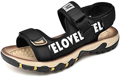 メンズサンダル アウトドアスポーツアジャスタブルハイキングサンダルビーチ夏用防水クイックドライ保護Toecapクローズドつま先 アウトドア防水靴 (Color : Black, Size : 44)