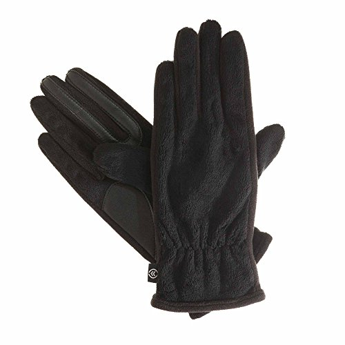 Isotoner Women's SmarTouch Plush Teddy Gloves - One Size - Black