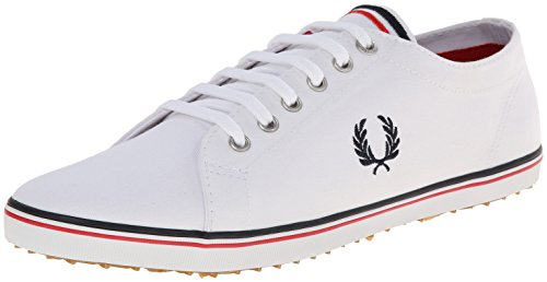 Fred Perry Men's Kingston Twill Fashion Sneaker, White, 11