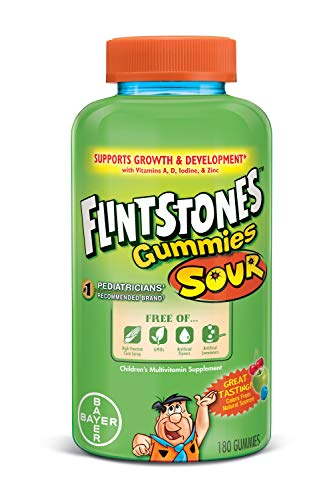 Flintstones Complete Multivitamin Sour Gummies, 180 Count