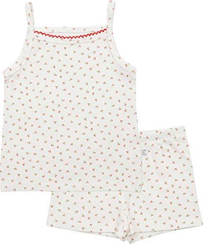 - AVAUMA Minimal Cherry Pattern Sleeveless Newborn Baby Little Boy Girl Pajamas Summer Sets Pjs Kids Clothes (XL/Ivory)