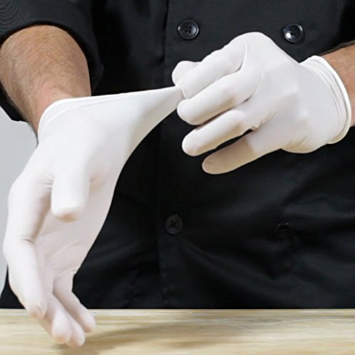 GREAT GLOVE 10000-XS-BX Food Safe Industrial Grade Glove, Latex, 4.5 mil - 5 mil, Lightly Powdered, Smooth, Natural Rubber Latex, X-Small, Natural (Pack of 100)