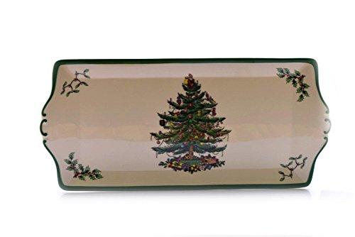 Spode England Christmas Tree S3324 Rectangular Serving Plate Platter 13.5