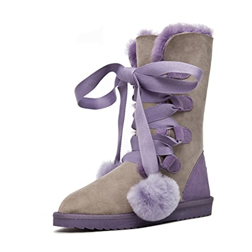para Botas 37 Tamaño Zapatos Mujer de Antideslizantes nieve Color nieve Antideslizantes 702432