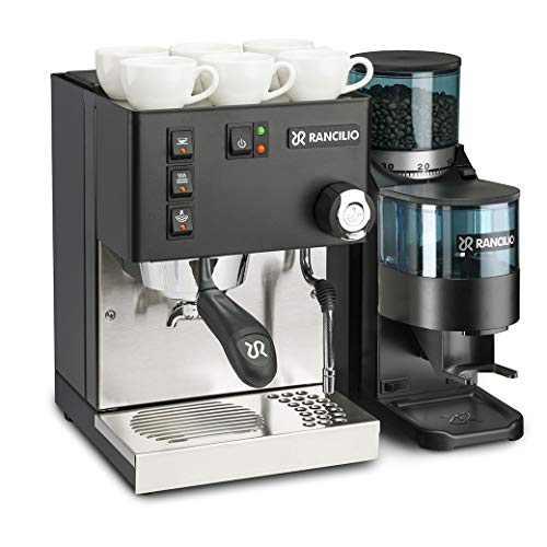 Rancilio Silvia M V5 and Rocky Bar Combo – Doser (20th Anniversay Edition – Black) (Black) (Black)