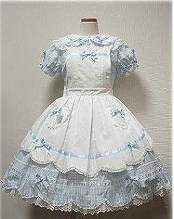 465aa982a ゴスロリィタ Lolita ロリータ服 衣装 洋服 COSMAMA LLTLZY0080 ブルーとホワイト 半袖 ゴシック ゴスロリ プリンセス  お嬢様 レディース…