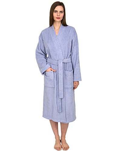 (TowelSelections Women's Robe, Low Twist Cotton Terry Bathrobe Large/X-Large Sweet Lavender)