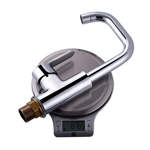 Luxury Deck Mount Washing Kitchen Sink Mixer Taps Single Lever Brass Kitchen Faucet Chrome Finish DONA1143 by Tyrants Fauceting (Image #4)