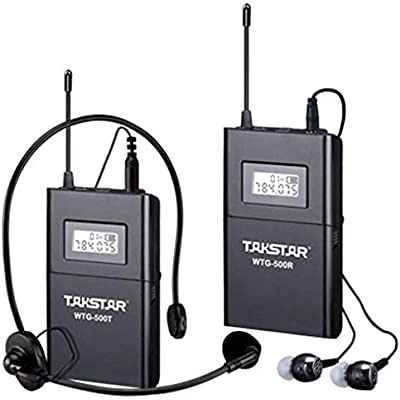 VHNVHN WTG-500 UHF Band Tour Guide Teaching UHF Wireless System Device Black